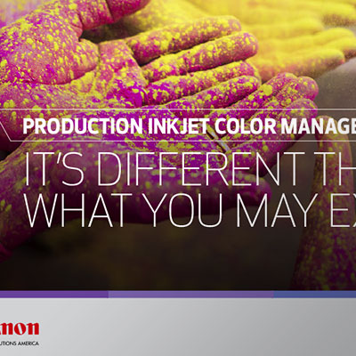 Production Inkjet Color Management Booklet