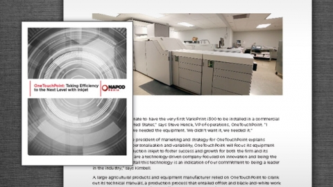 OneTouchPoint: Taking Efficiency to the Next Level with Inkjet